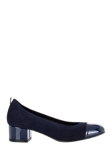 Pier Lucci Deri Topuklu Ayakkabı Lacivert